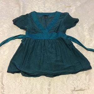 Green kimono top